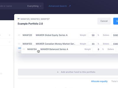 ⬆️ Change order - Drag & Drop Exploration web user interface cell table product platform finance data dashboard clean button app comparison ux ui drag drag and drop