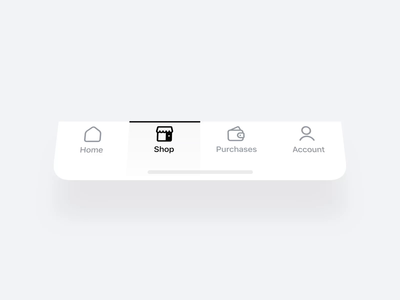 👉🏼 Tab Bar Animation ux ui story navigation mobile interface interaction fintory app home mp4 black black white illustration animation iphone ios14 ios tabbar tab bar