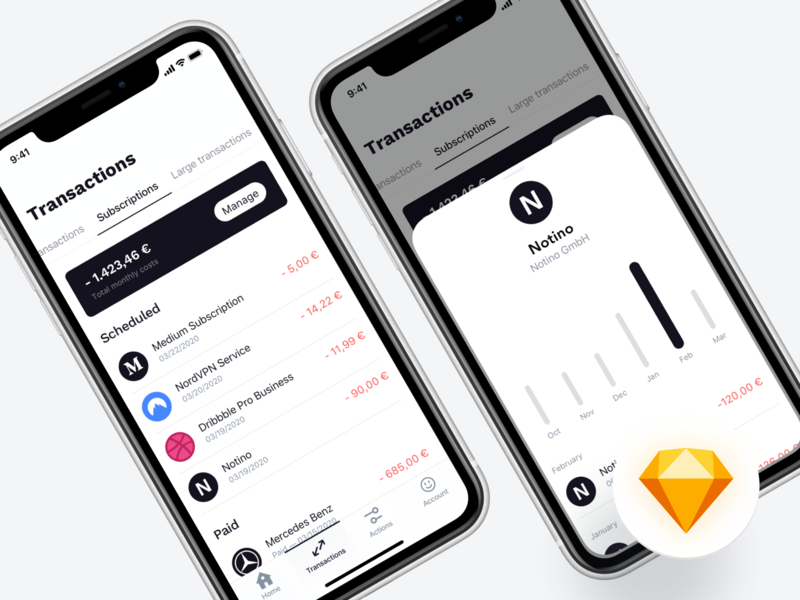 ⬇️ Freebie | Mobile Banking - Transactions banking finance freebie download sketch file design ux ui user interface app design clean black white applictaion app mobile mobile banking money product transfer color