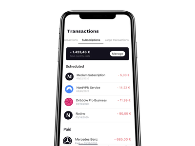 Finance Mobile Application Interaction transaction details manage account balance transaction motion graph illustration mobile minimal button finance user interface clean app ux ui mp4 animation interaction