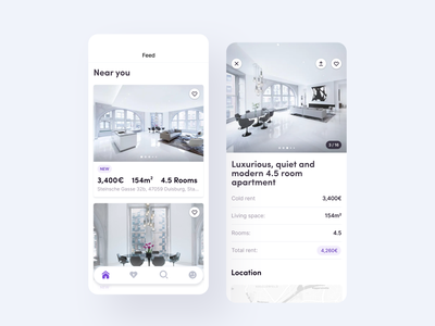 🏠 Home - Fieldly ux design user interface flat minimal ux ui tab bar rent real estate property management manage apartments ios house fintory finance dashboard color clean page ui card ui buying booking app icon profile app animation