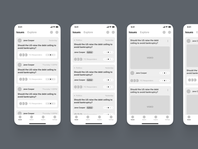 ◻️ Dogma - Greyscale design fintory app concept wireframe early stage design colors typography illustration product tool ios15 ios design mobile application app ux ui input field question cards user greyscale