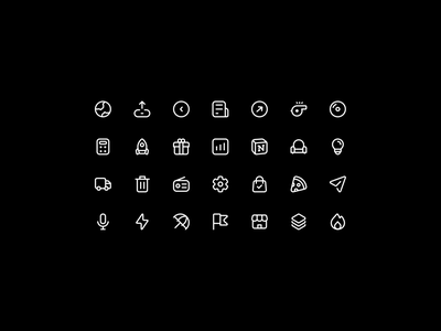 🏴 Icon Set apple icons material design icons myicons app icons interface icons ux clean icon pack logo iconset icondesign freebie free icon set up branding website design illustration vector ui icon