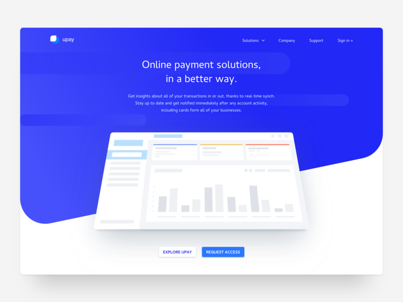 Financial Technology Startup Landingpage