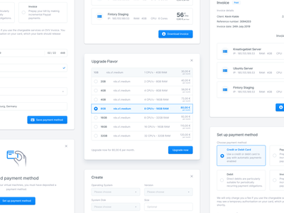 Modal Windows - UI Components desktop clean interaction invoice upgrade license pricing payment method payment plan button user experience user interface forms input popup dialog modal dashboard payment banking