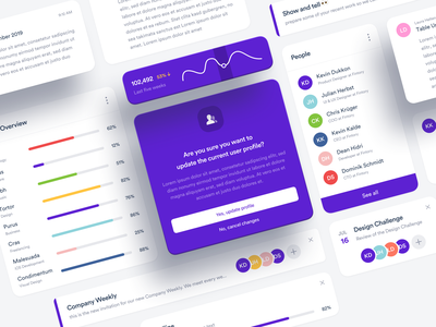 ⬜️ Dashboard Elements interface typography minimal social element user interface web graph data ux ui modules finance desktop design dashboard flat clean button