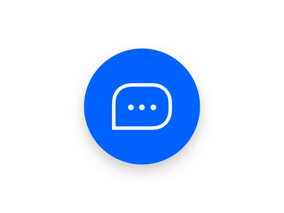 💬 Chat Bubble Interaction button clean user interface ui ux motion product app mobile ios interface interaction gif design chat illustration mp4 animation