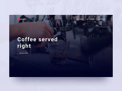 Coffee shop website (WIP) modern luxury elegant design elegant coffee product typogaphy concept clean website home page homepage coffee shop coffeeshop design landing page web design web ux ui