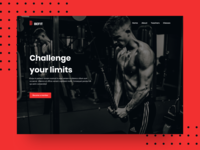 Fitness Landing Page (WIP) typogaphy creative product design home page sports webdesign dark ui dark clean header gym fitness homepage ui design landing page design web design web ux ui