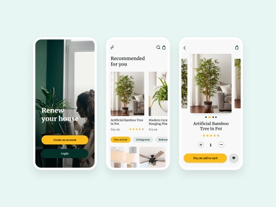 Home decor - mobile app design minimal clean elegant ecommerce app store interiordesign product page home decor homedecor shopping app ecommerce app design mobile app ui design typography app ux ui