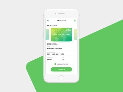 Daily UI #002 Credit Card Checkout dailyui app screen mobile app app credit card checkout