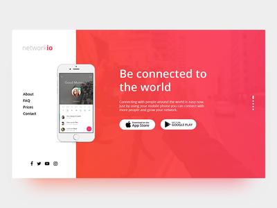 App Landing Page Concept creative web design web ui app landing page landing page app