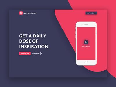 Mobile app landing page landing page design web ux header dailyui webdesign ui app
