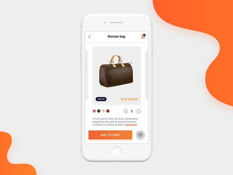 Shopping App - Product Details Screen ecommerce shopping app ui product page design app screen ux app