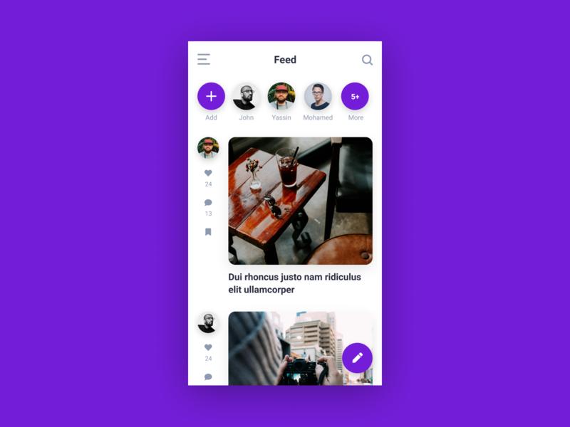 Feed Screen app concept app design app screen feed mobile app design ux ui app