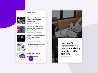 RSS Reader App - Feed Screen mobile app news app ux design ui design app design rss news newsfeed ux app screen app ui