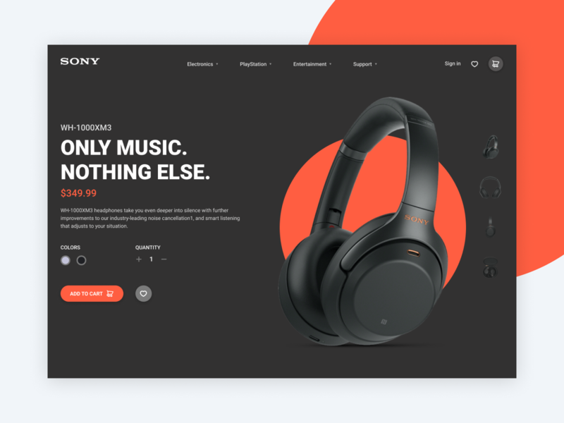 Single product page dark single product shop product page ecommerce web design web ux ui clean