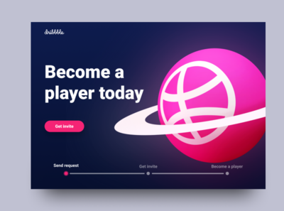 Become a player - Dribbble invite
