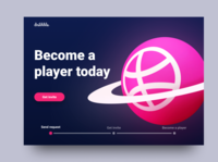 Become a player - Dribbble invite