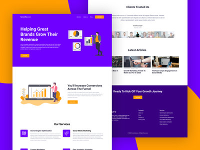 Marketing Agency Landing Page business design popular trends trend 2020 home page homepage landing page ui landing page design agency corporate marketing agency marketing illustration ui design landing page web design web ux ui