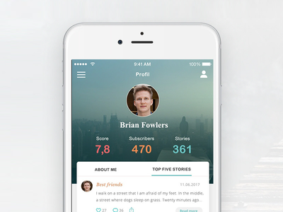 Storygram App Design