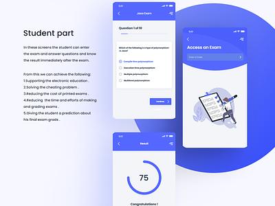 Student part quiz app brand design ux ui uiux mobile app design mobile ui app quiz student