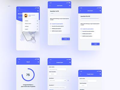 Quiz App Ui Design mobile app ux design ui design quiz app