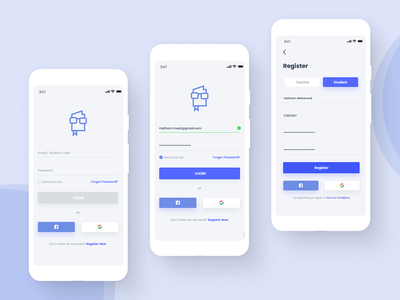 Learning App Login&Signup user interface userinterface mobile web app icon typography ux design ui