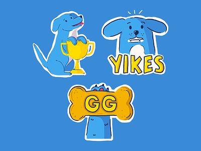 Twitch Emotes twitch illustration gaming doggy yikes dog illustrations emotes