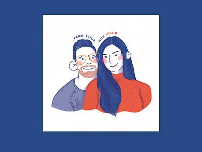 Couples Portrait Commission portrait couple commission illustration