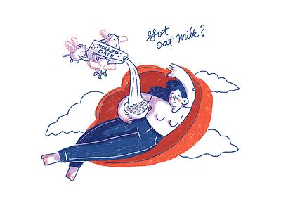 Got oat milk? cute milk illustration oat milk