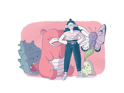 Pokemon trainer cute illustration pokemon