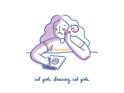 Sad girls drawing sad girls drawing cute girl sad girl illustration