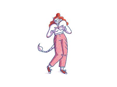 Scorpio cute girl scorpio zodiac illustration