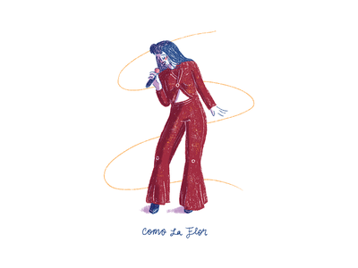 Selena - Como La Flor illustration music selena