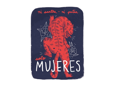 Tigre mujeres feminist women cute tiger illustration print