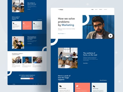 Agency landing page user experience ux creativity marketing business creative digital agency typography website web design character color header ui illustrations illustration