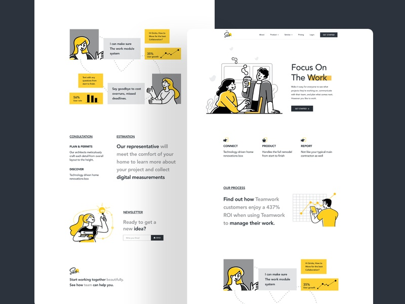 landing page exploration web application user experience trandy minimal creative userinterface creative agency toronto digital creative agency business branding website typography ux design web character header ui illustration