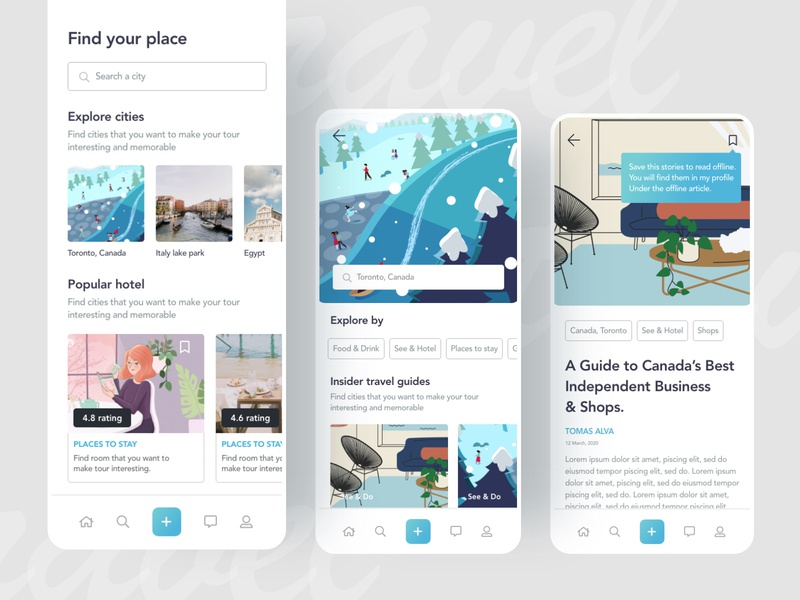 Travel mobile application design exploration