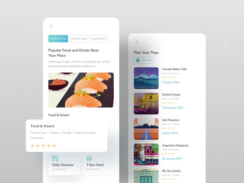 Mobile application design travel app hybrid trips mobile app mobile ui ios app mobile ios trip travel business typography ux website web design header color illustrations illustration