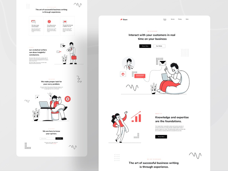 Landing page user experience userinterface website design webdesign landing page idea growth agency chat business typography ux website web design header ui color illustrations illustration