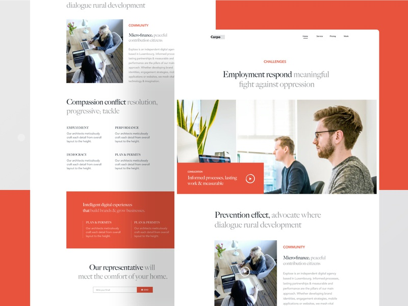 corporate agecny landing page landing agency landing page growth user experience user interface corporate branding finance digital agency corporate branding typography ux website web design header ui illustrations illustration