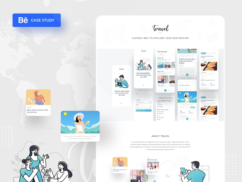 Dribbble thumb   3 android app ios application ui web design mobile application application design travel casestudy application business typography website web design header ui color illustrations illustration