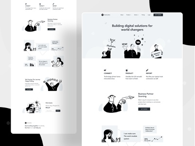 Landing page exploration character saas business trendy landing web design uxui webdesign website design landing page typography ui ux web website design header color illustrations illustration
