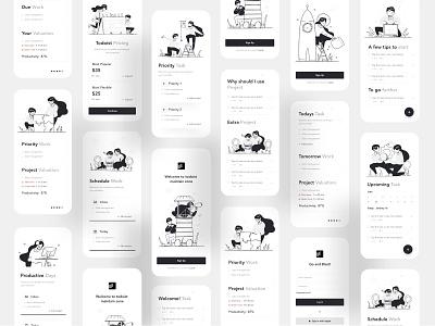 Todoist Application Redesign ios mobile app design mobile app mobile website design webdesign taskmanagement projectmanagement todolist todoist business typography ux website web design ui color illustrations illustration