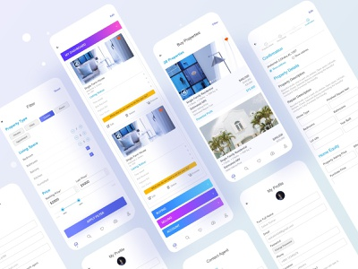 Real Estate Mobile Application app design ios app hybrid ios mobile app design mobile app mobile ui real estate mobile realestate business application typography ux website web design header ui illustration