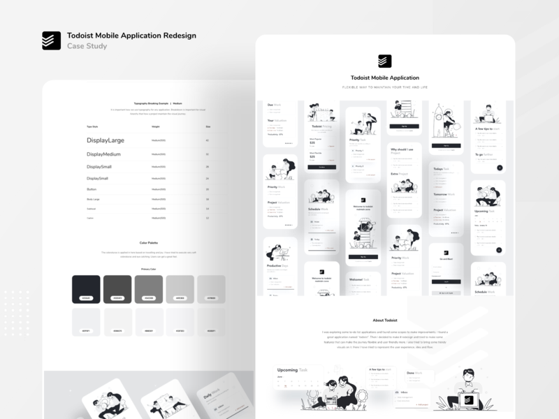 Todoist redesign case study uiux mobile ui ux mobile design mobile uiux mobile ui applications product design behance casestudy business application typography ux website web design ui color illustrations illustration