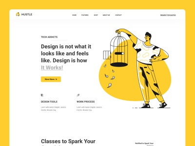 Landing page trendy web design corporate agency ui  ux uiux ui website design application business gradient typography character website web design header color illustrations illustration