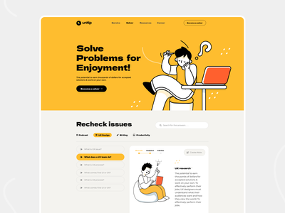Solving agency landing page uidesign ui  ux hero ui design website design solving ux  ui uxui uxdesign ux design business typography ux website web design header ui illustrations illustration