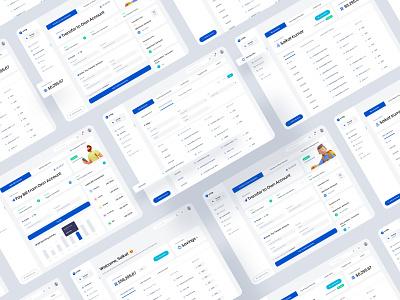 Online Banking Web App web design web app trend uiux app bankingapp finance app online banking webapplication webapp application business typography ux web ui design header illustrations illustration